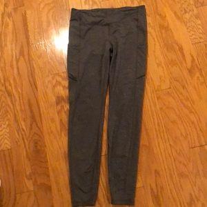 Lulu Lemon Grey Leggings Full Length Pockets